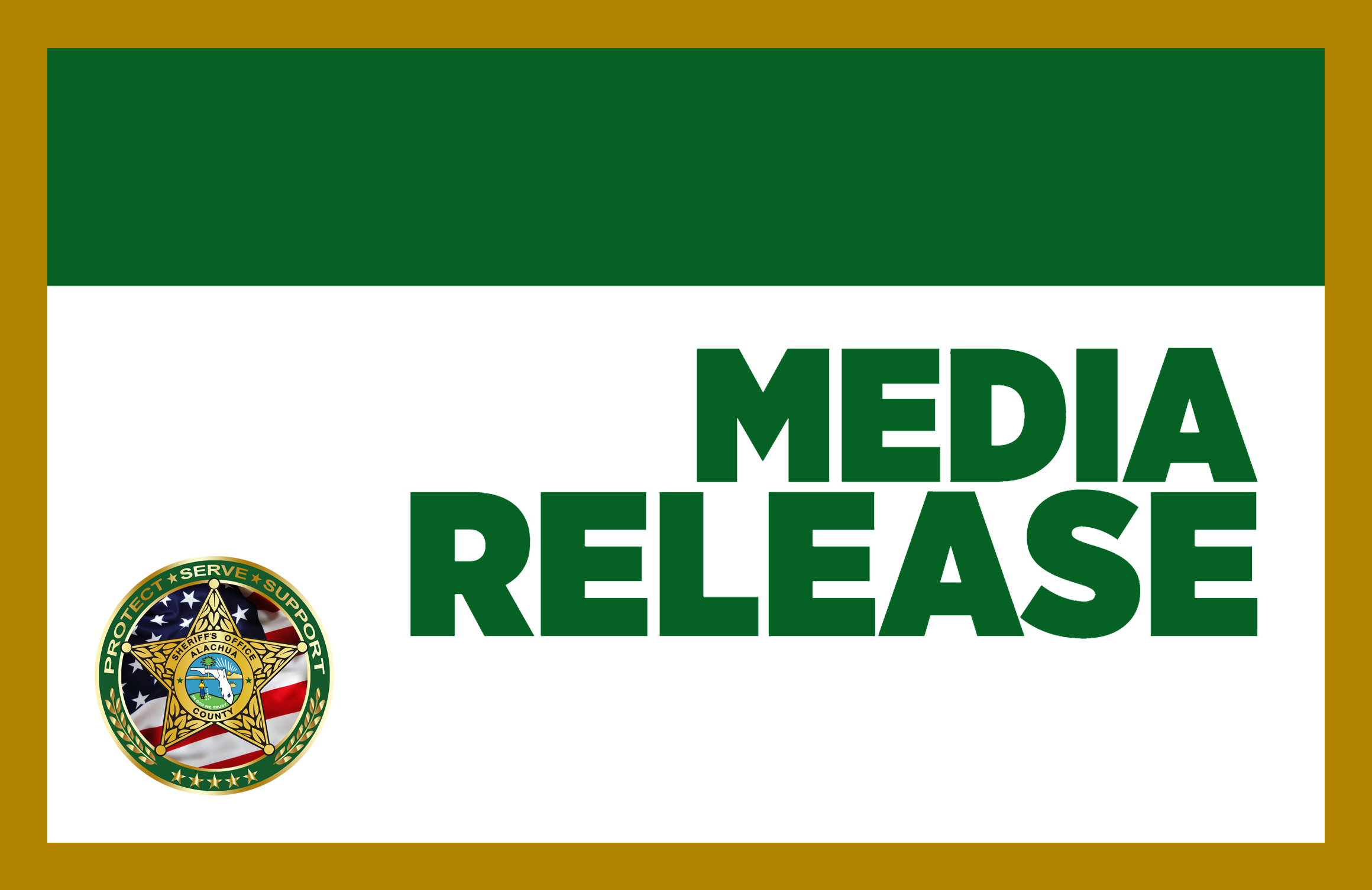 Media Release from the Alachua County Sheriff's Office